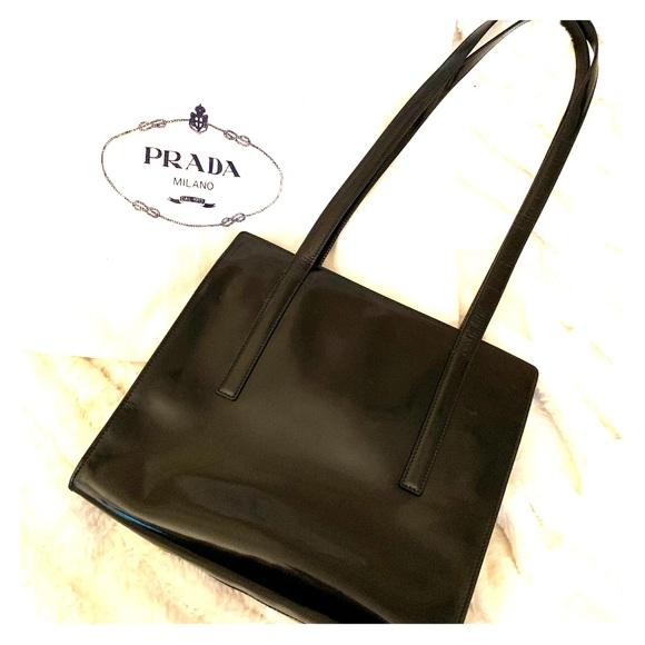 Prada Handbags - PRADA Black Leather Handbag - dust bag included